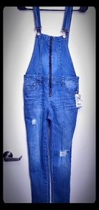 Cute distressed overalls